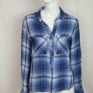 Anthropologie Cloth & Stone Plaid Button Shirt